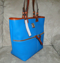 Dooney & Bourke Pebble Leather Convertible Shopper ICE BLUE image 2
