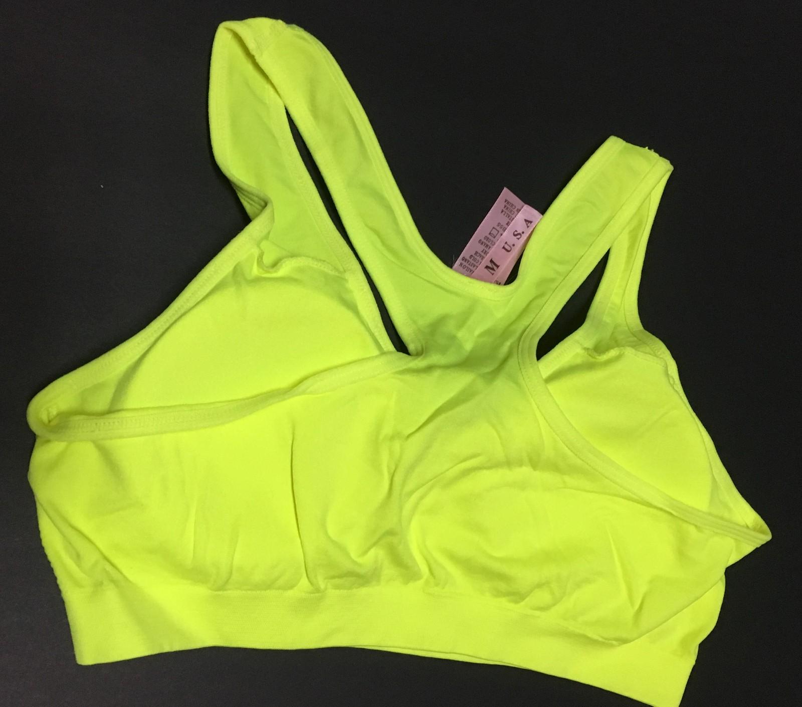 Women's Sport Support Bra Yellow SZ Medium Light Padding