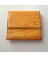 Authentic, Louis Vuitton, Yellow Epi Leather Wallet-Coin Purse 4in x 4in... - $142.45
