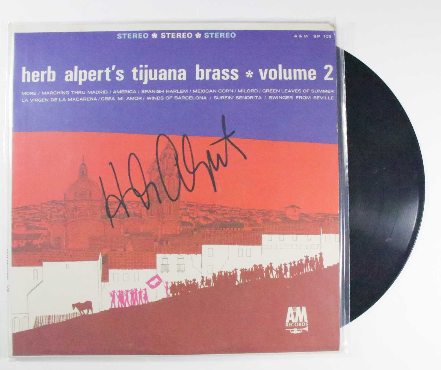 "Primary image for Herb Alpert Signed Autographed ""Volume 2"" Record Album"