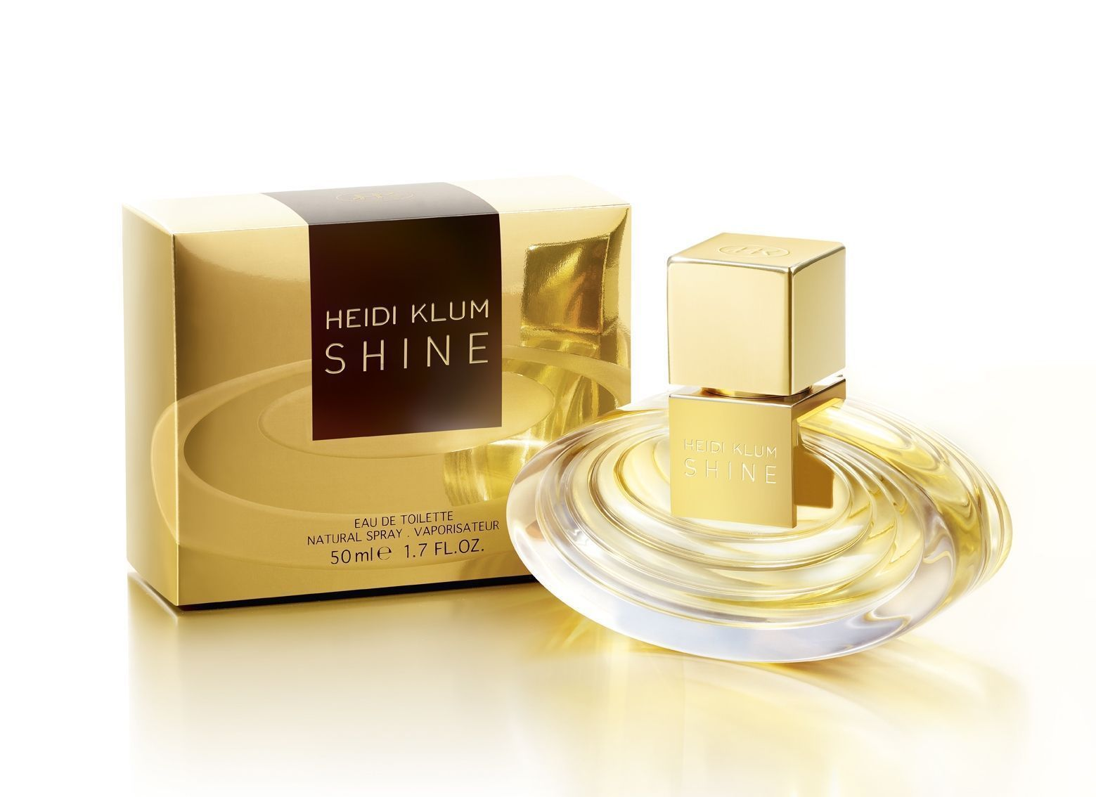 COTY*1.7oz Bottle HEIDI KLUM SHINE Fragrance EAU DE TOILETTE Natural Spray WOMEN