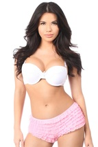 Pink Ruffle Panties with Bow ~ (Includes Plus Sizes) - $25.95