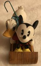 Hallmark Christmas Ornament Mickey Mouse Donald Duck On Sled - $12.08