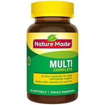 Nature Made Multivitamin Complete Softgels with Vitamin D3 and Iron, 60 Count Pa