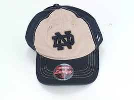Adjustable Cap NCAA Notre Dame Fighting Irish Mens Sigma Relaxed Stone/Navy - $7.15