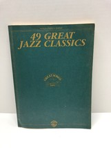 49 Great Jazz Classics For Voice Piano & Guitar Sheet Music Book Warner ... - $17.77