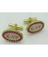 Kappa Alpha Psi -Cuff Links w/Stones - £14.48 GBP