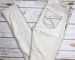 WOMENS SILVER JEANS Low Rise Tan Embroidered Skinny Stretch Jean 27 X 31 28 X 31