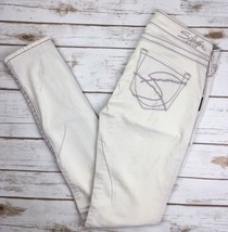 WOMENS SILVER JEANS Low Rise Tan Embroidered Skinny Stretch Jean 27 X 31... - $24.97