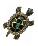 Big Turtle Pin Brooch + Pendant 2 in 1 - Scarf Holders  (2-1/4 x 1-1/2) ... - $37.99