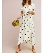 Anthropologie Breanna Polka Dot Wrap Dress by Maeve Sz 10 - NWOT - $179.99