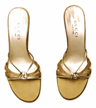 Athentic Gucci Women Gold Sandals  - $79.00