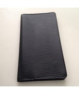 Louis Vuitton Black Epi Leather Long Checkbook-Breast Wallet 7.25in x 4in (DC) - $237.45