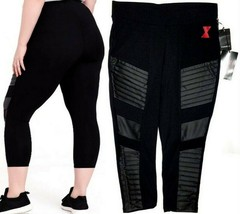 Her Universe Marvel BLACK WIDOW Plus Size Women Crop Moto Leggings, Size 0 - $29.69