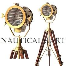 Adjustable Antique Vintage Old Century Modern Searchlight Lamp Timber Tr... - $199.00