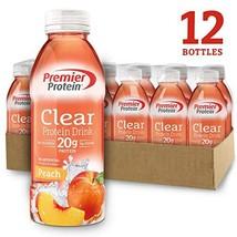 Premier Protein Premier Clear Protein Drink Peach 12/16.9 Fl Oz Net Wt 202.8 , 2