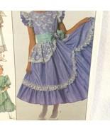Vintage Simplicity 8520 Girl's Dress Size 12 Assymetrical Hem Option Rou... - $5.00