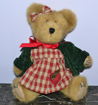 Boyds Bear Gala Applesmith 917441 Red Checkered Dress Green Sweater with... - $9.74