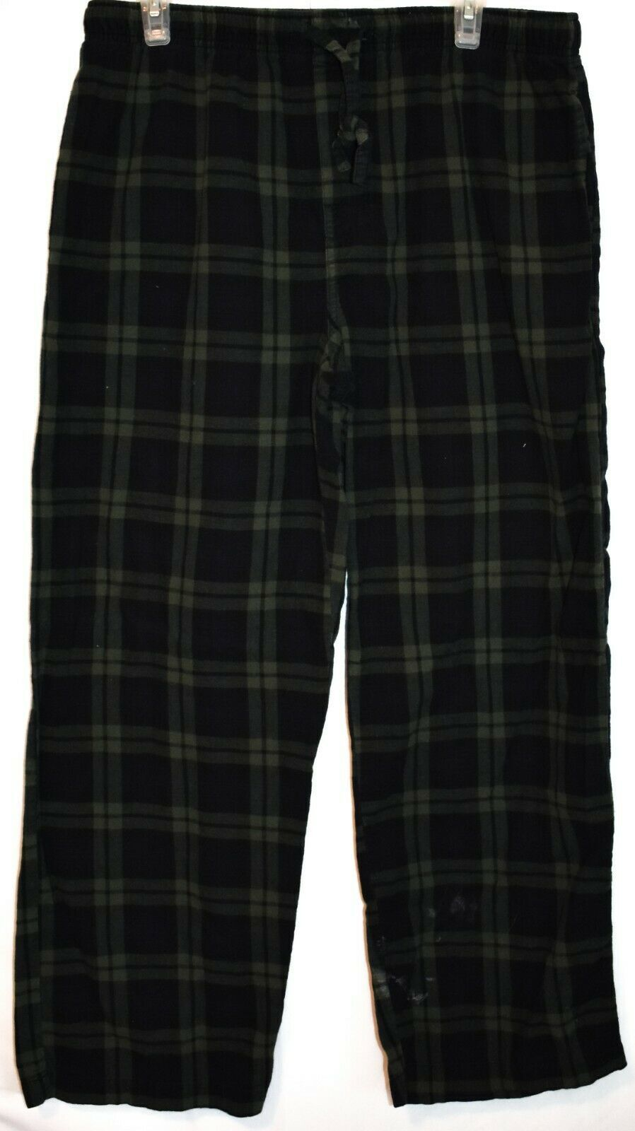 Merona Blue Green Plaid Pajama Lounge Sleepwear PJ Pants Men's Size L 36-38