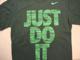Nike Just Do It Nike Apparel Casualwear Green Cotton T Shirt Size M - $16.13