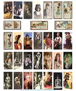"""gypsy fortune tellers domino collage sheet 1"""" X 2"""" inch domino graphics ... - $3.99"""