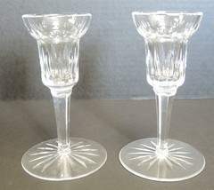 "Pair of Waterford Crystal 5 3/4"" Tall Candlesticks - $56.99"