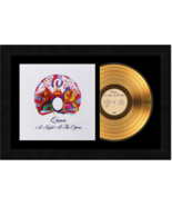 """""""A Night At The Opera"""" by Queen 17x26 Framed 24kt Gold Album with Album ... - $198.95"""
