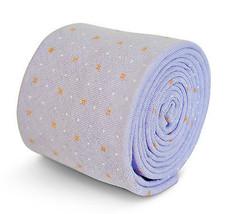 Frederick Thomas lilla cravatta con arancione e bianco punti in 100% cotone