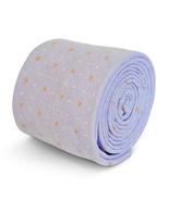 Frederick Thomas lilla cravatta con arancione e bianco punti in 100% cotone - $24.49