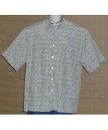 Tori Richard Hawaiian Shirt blue tan check Size 2XL - $49.99