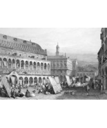 ITALY Padua - 1864 Fine Quality Print Engraving - $49.50