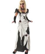Enchanting Creeping Beauty white Black Costume Rubies Women's Scary Tale... - £24.40 GBP