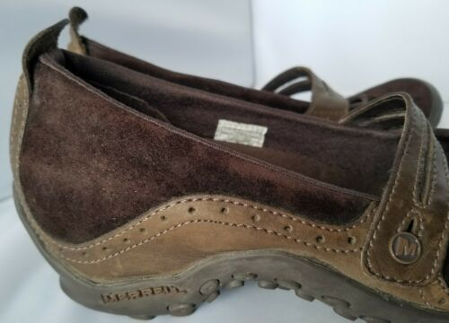 Merrell Performance Plaza Bandeau Chocolate Brown Mary Janes Ortholite Shoes 8 image 2