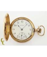 Waltham Full Hunter 14k Yellow Gold Antique Pocket Watch Grade 620 15J 1... - $2,326.43