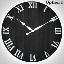 Wall Clock Rustic Wood Large Oversized Vintage Home Office Decor - $144.16+