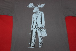 Moose, Skateboard, Small Mens T-Shirt - $8.95