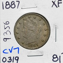 1887 Liberty Nickel 5¢ Actual Coin Pictured Lot# CV7