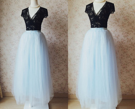 SKY BLUE Plus Size Tulle Maxi Skirt Something Blue Wedding Bridesmaid Skirts NWT