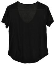Garage Women's Sheer Black Jersey Knit Short Sleeve Shirt Size M image 2