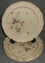 Set (4) 1980s Mikasa Country Charm - Berry Vale Pattern Dinner Plates Japan - $79.19