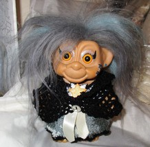 "MONKEY FACE GYPSY TROLL 6"" ooak doll whimsical custom Halloween Witch Hag - $39.50"