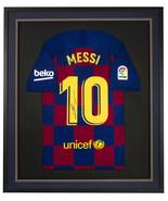 Lionel Messi Signed Framed FC Barcelona Soccer Jersey Messi LOA - $969.99