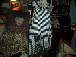 J EAN Paul Gaultier For Target Sassy White+Navy Blue Draped Dress Size S - $20.79