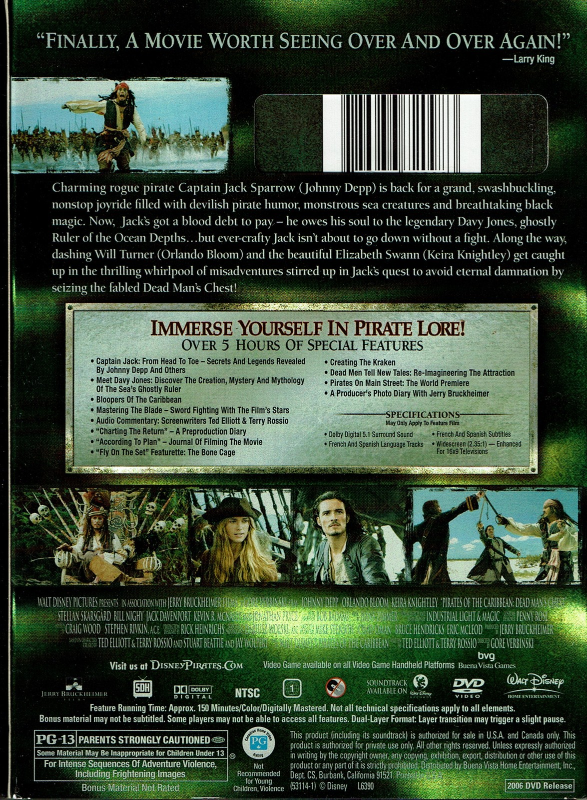 Pirates of the Caribbean 2: Dead Man's Chest, 2 DVD Special Collectors Edition