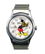 Disney Mickey, Lady Stretch Band, Easy Read Unworn Silver Tone RPH135 Wa... - $68.16