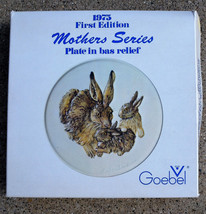 GOEBEL 1975 First Edition Mothers Series Plate in bas relief - $18.76
