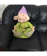 "Vintage Disney Jumbo Snow White Seven Dwarfs Dopey Dwarf Plush Doll 25"" - $149.99"