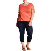 Seven7 Released Hem Skinny Crop Jeans, Jarrell, 22W - $25.73