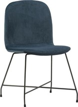 Dining Chair DOVETAIL COLWOOD Upholstery Metal Frame Fabric - $559.00