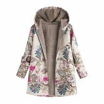Female Jacket Plush Coat Women's Windbreaker Winter Warm Outwear Floral ... - $29.25
